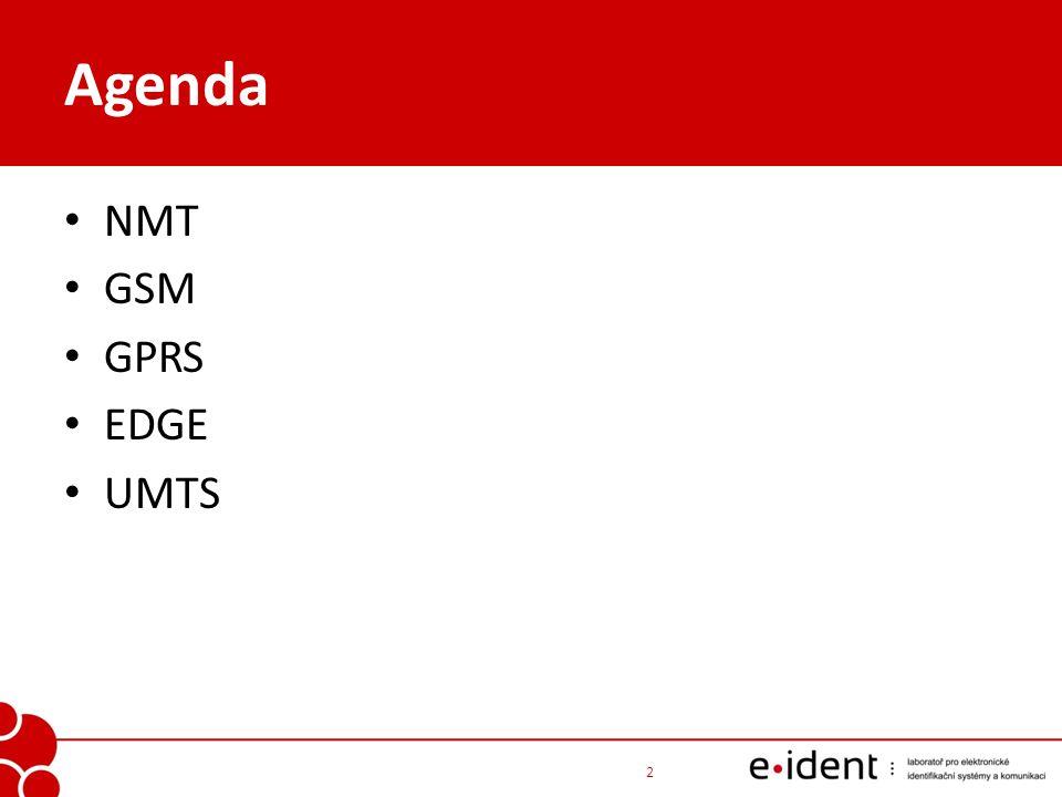 Agenda NMT GSM GPRS EDGE UMTS