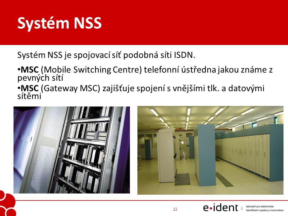 Systém NSS Systém NSS je spojovací síť podobná síti ISDN.