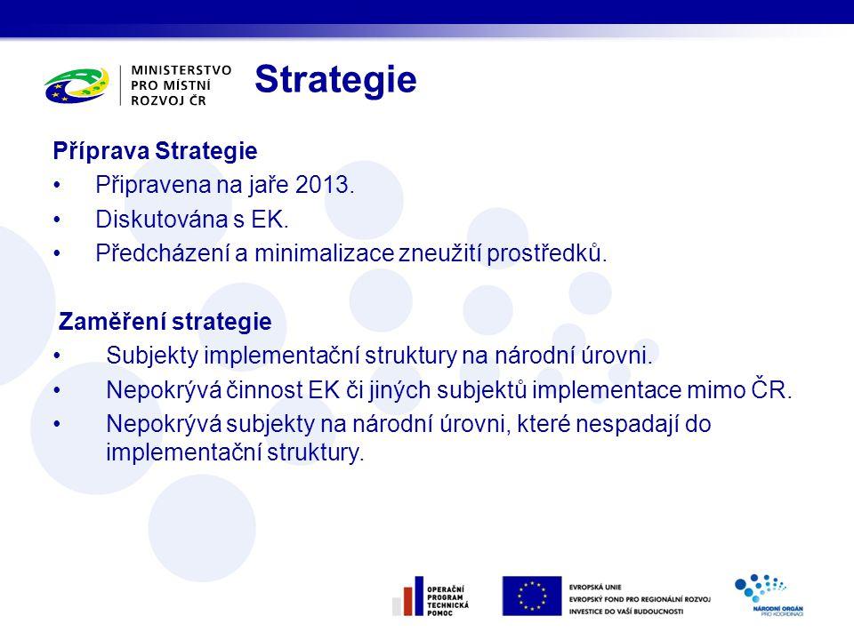 Strategie Příprava Strategie Připravena na jaře 2013.