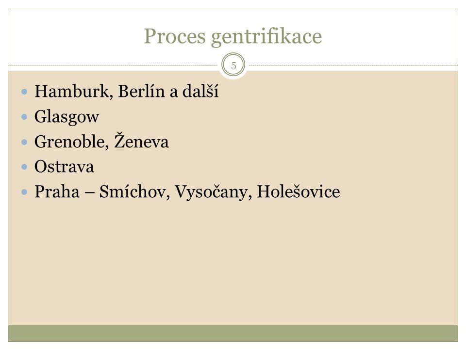 Proces gentrifikace Hamburk, Berlín a další Glasgow Grenoble, Ženeva