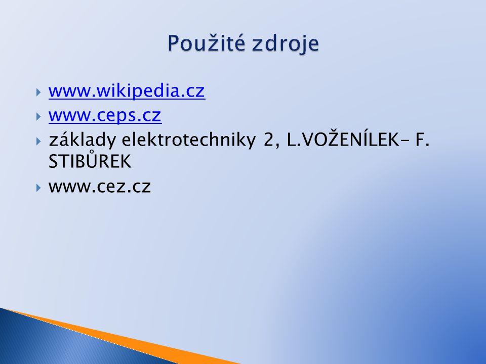 Použité zdroje www.wikipedia.cz www.ceps.cz