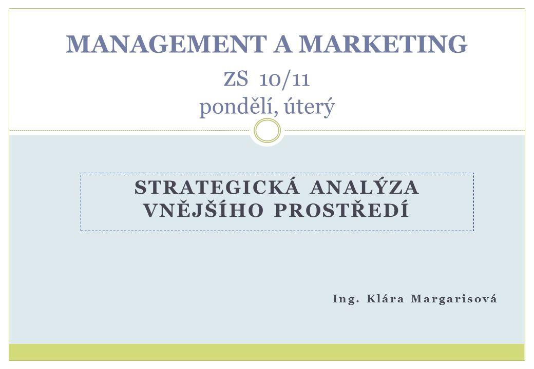 MANAGEMENT A MARKETING zS 10/11 pondělí, úterý