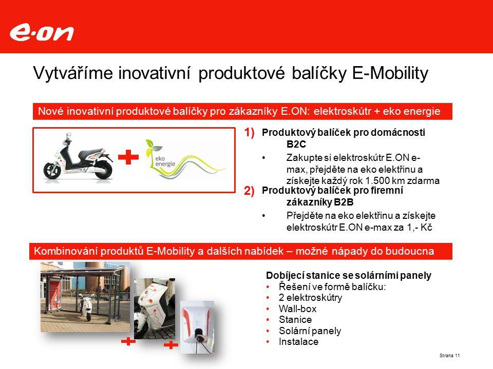 Vytváříme inovativní produktové balíčky E-Mobility
