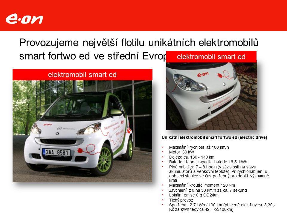 Provozujeme největší flotilu unikátních elektromobilů smart fortwo ed ve střední Evropě