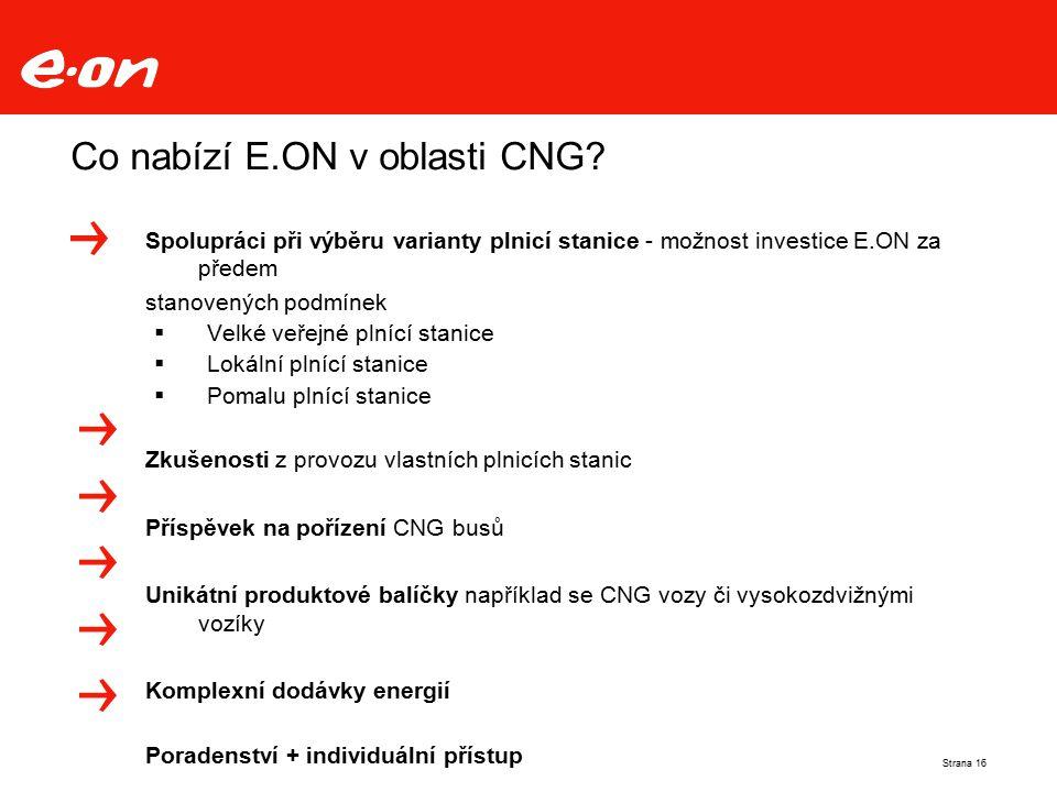 Co nabízí E.ON v oblasti CNG