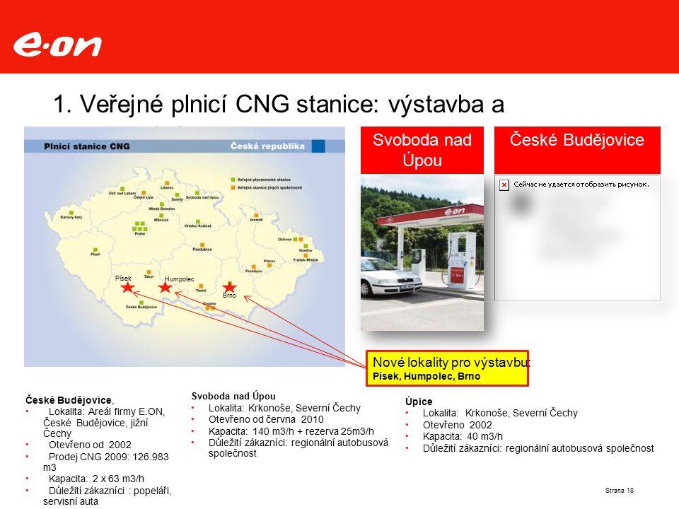 1. Veřejné plnicí CNG stanice: výstavba a provozování