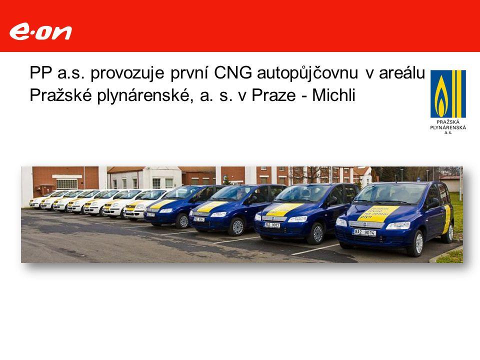 PP a.s. provozuje první CNG autopůjčovnu v areálu Pražské plynárenské, a. s. v Praze - Michli