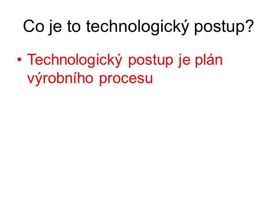 Co je to technologický postup