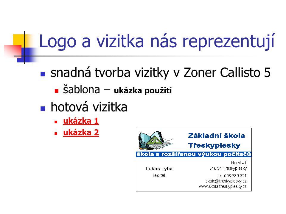 Logo a vizitka nás reprezentují