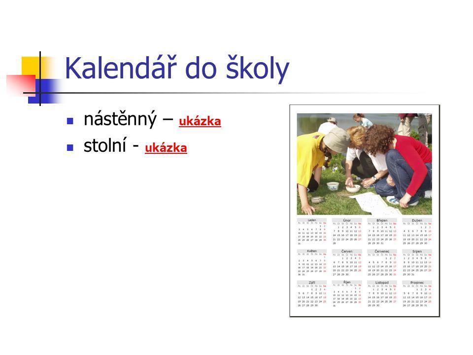 Kalendář do školy nástěnný – ukázka stolní - ukázka