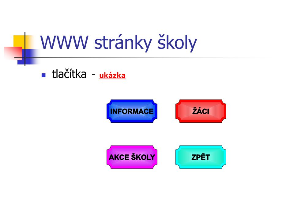 WWW stránky školy tlačítka - ukázka