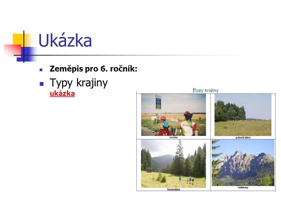 Ukázka Zeměpis pro 6. ročník: Typy krajiny ukázka