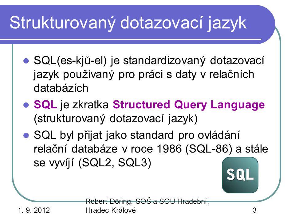 Strukturovaný dotazovací jazyk