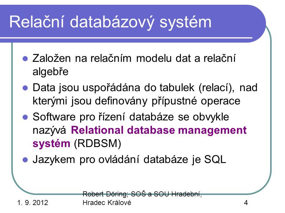 Relační databázový systém