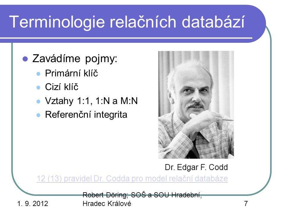 Terminologie relačních databází