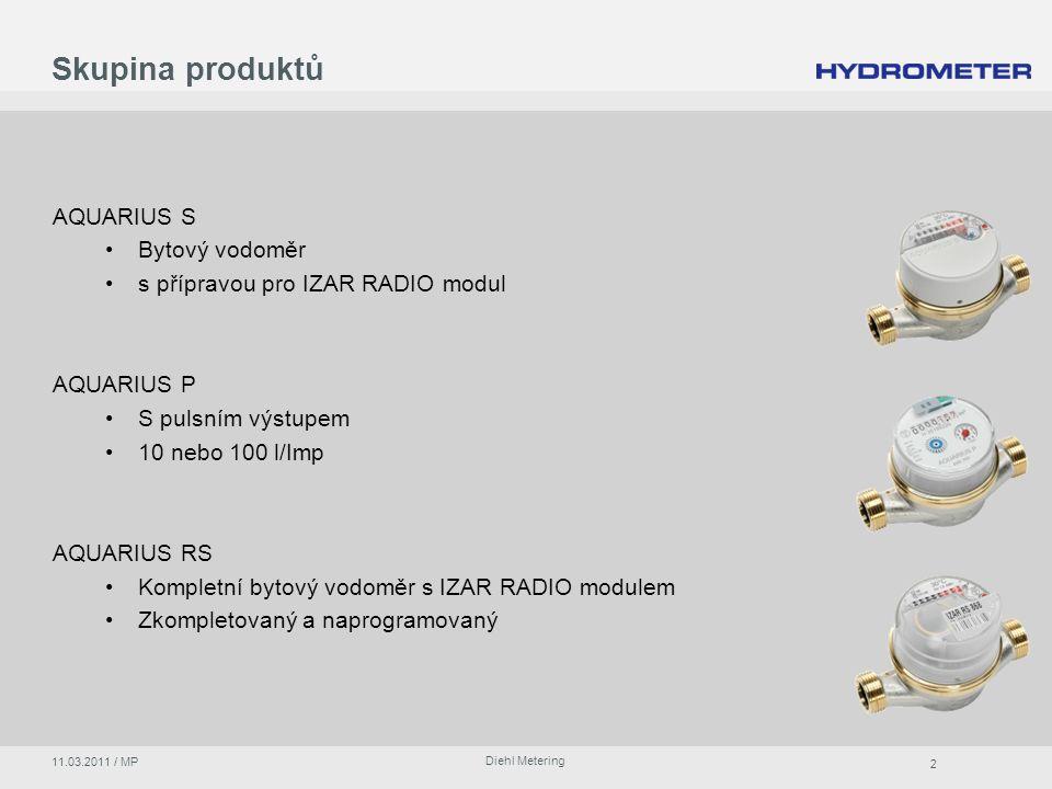 Skupina produktů AQUARIUS S Bytový vodoměr