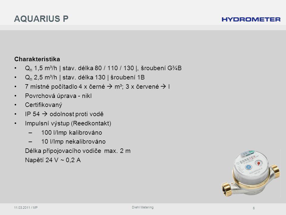 AQUARIUS P Charakteristika