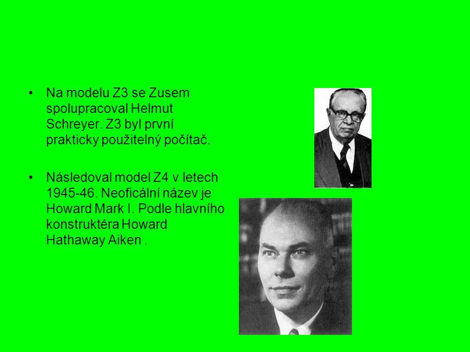 Na modelu Z3 se Zusem spolupracoval Helmut Schreyer