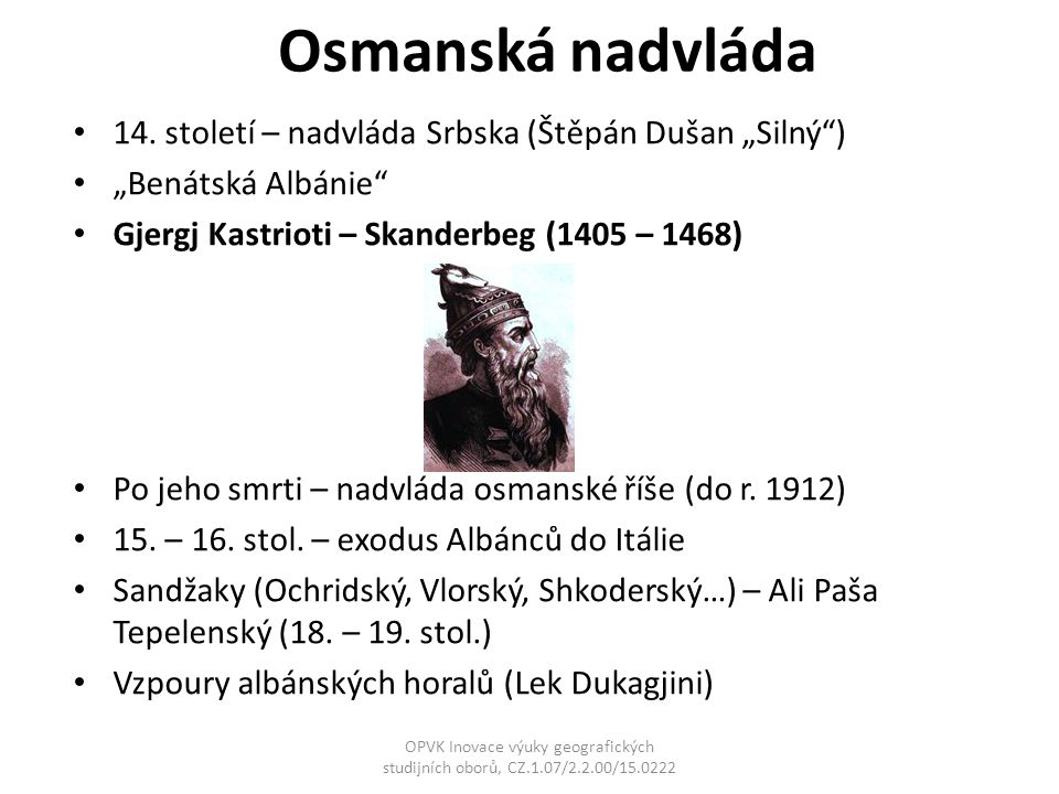 """Osmanská nadvláda 14. století – nadvláda Srbska (Štěpán Dušan """"Silný )"""