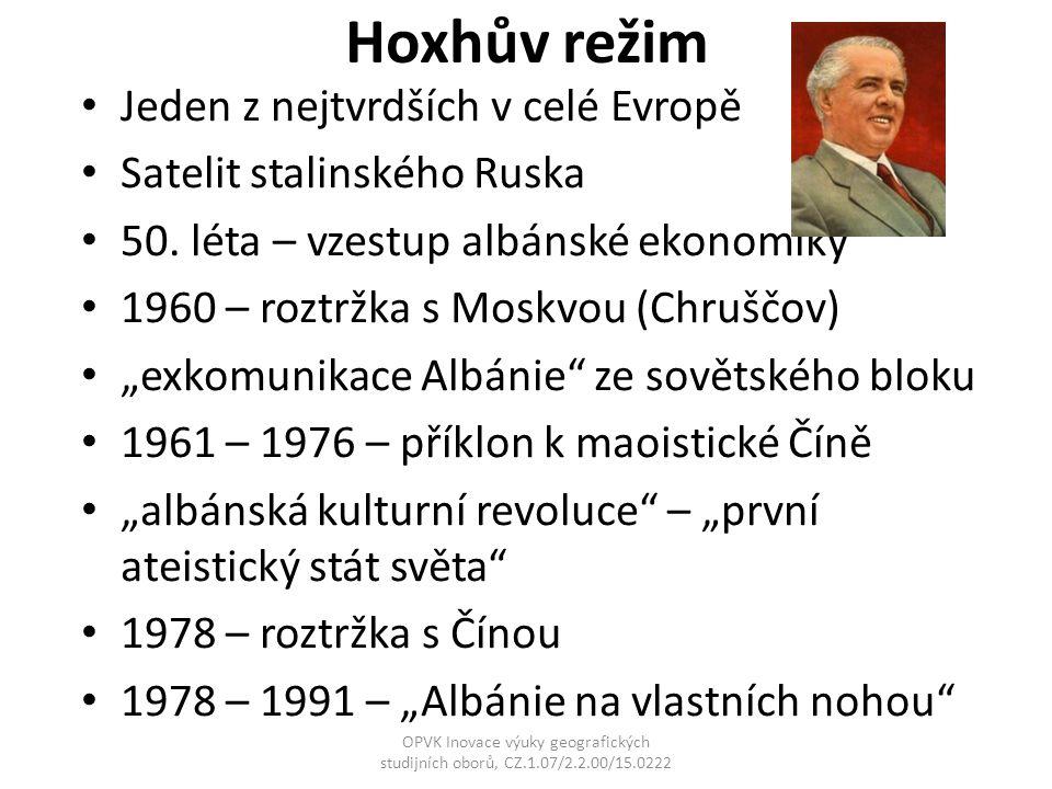 Hoxhův režim Jeden z nejtvrdších v celé Evropě