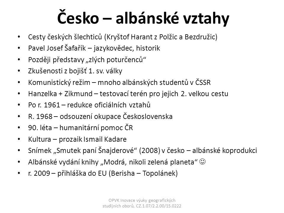 Česko – albánské vztahy