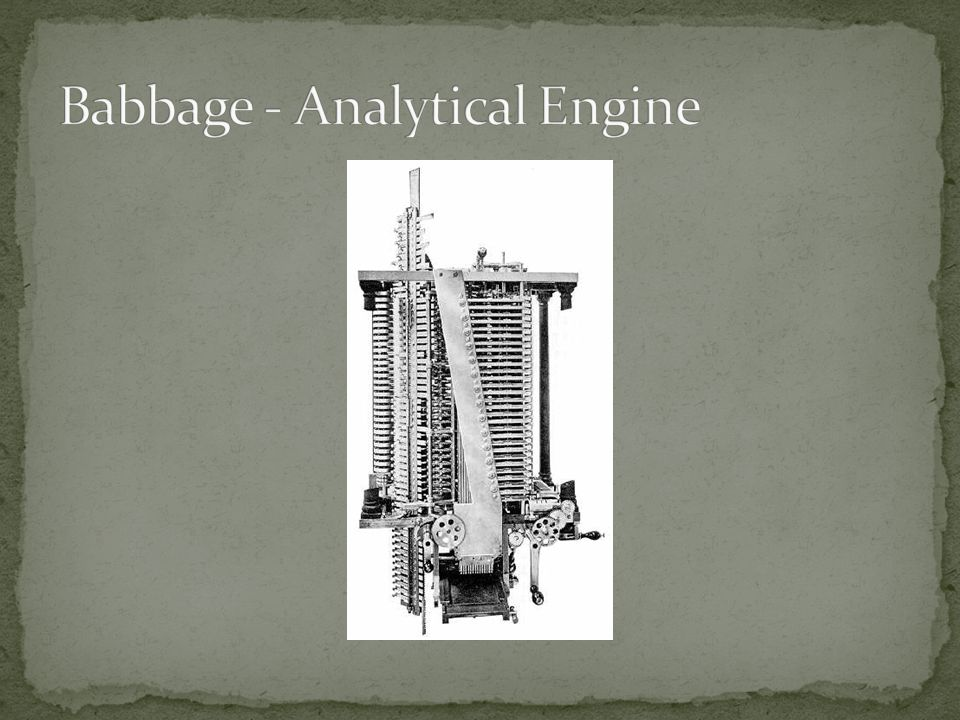 Babbage - Analytical Engine