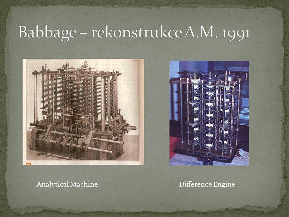 Babbage – rekonstrukce A.M. 1991