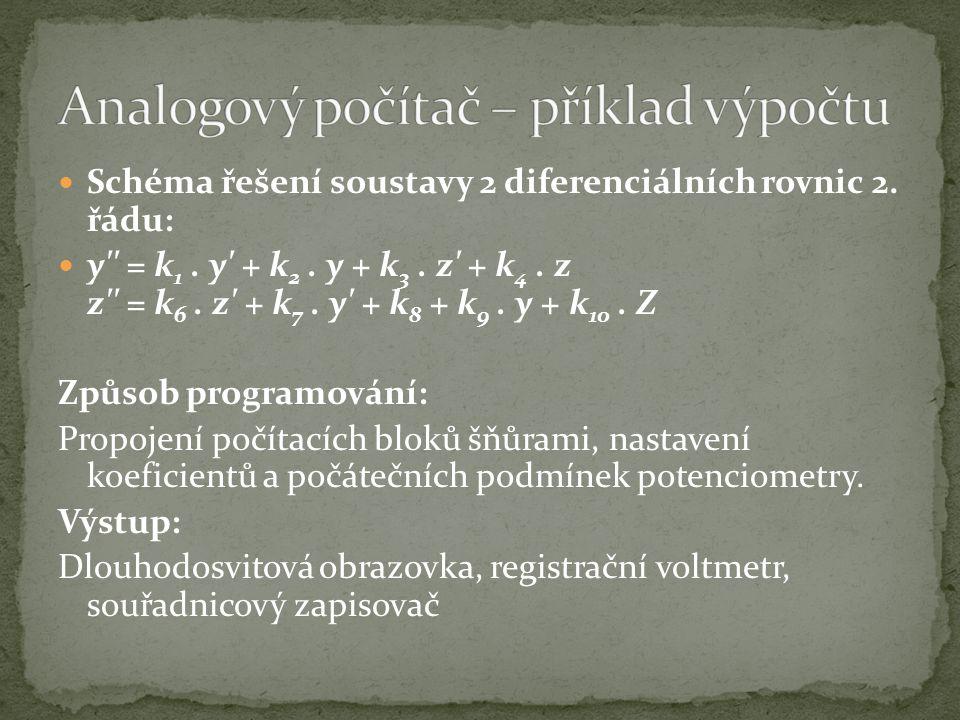 Analogový počítač – příklad výpočtu