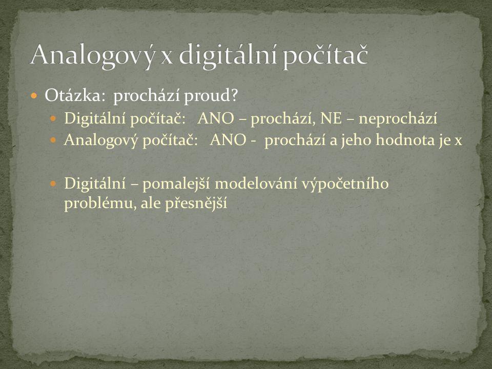 Analogový x digitální počítač