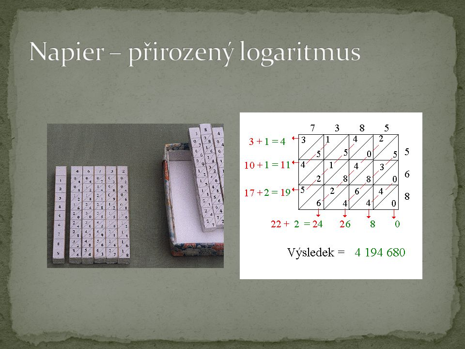 Napier – přirozený logaritmus