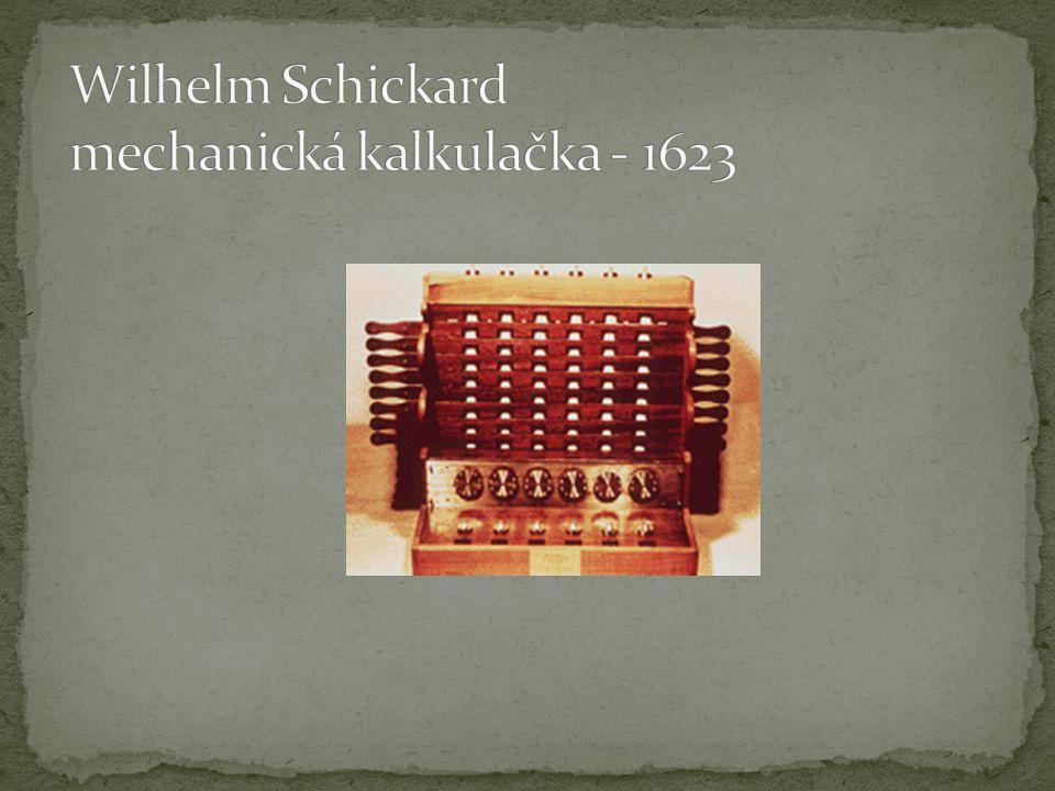 Wilhelm Schickard mechanická kalkulačka - 1623