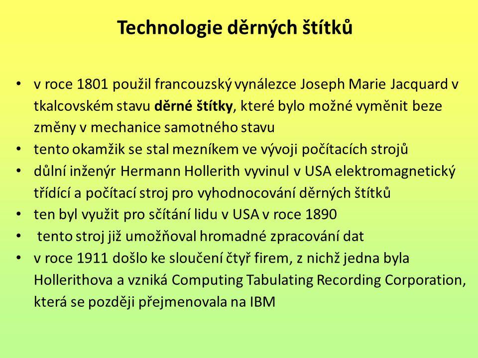 Technologie děrných štítků