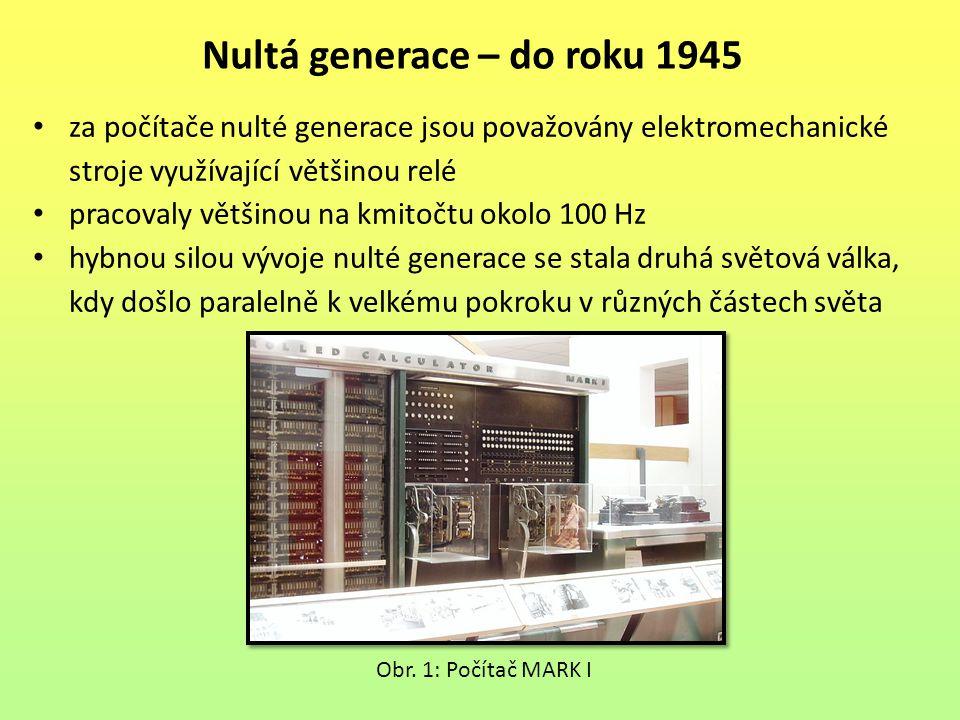 Nultá generace – do roku 1945