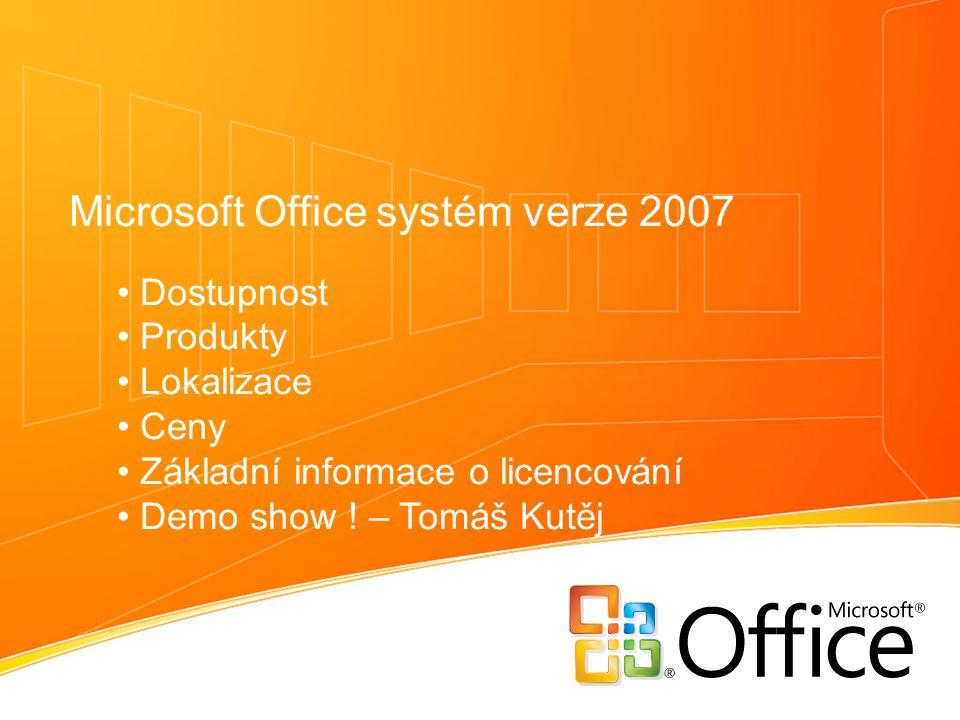 Microsoft Office systém verze 2007