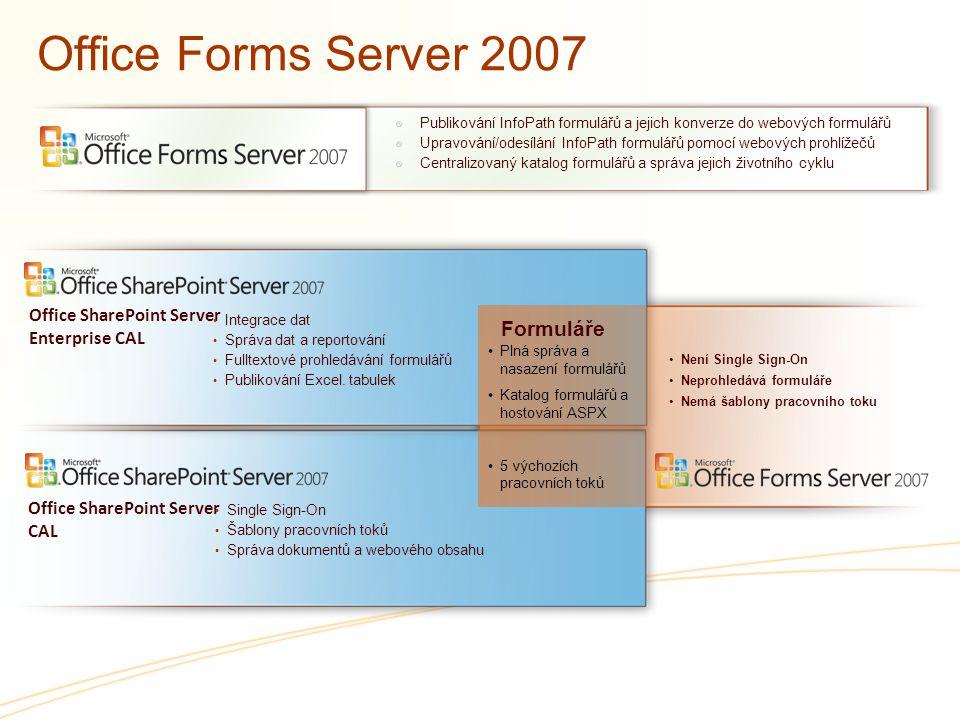 Office Forms Server 2007 Formuláře