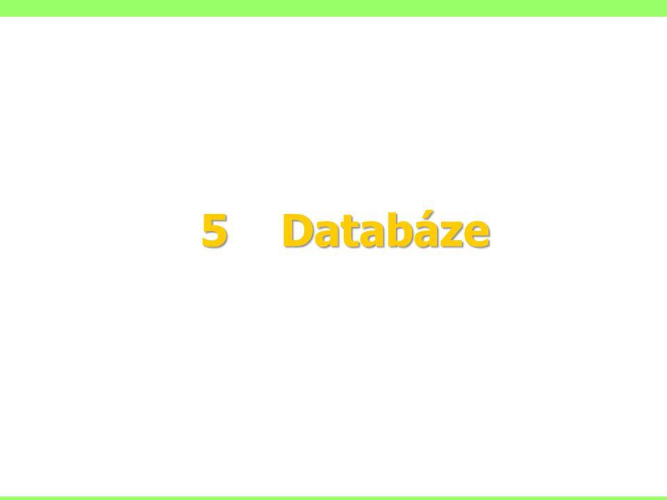 5 Databáze