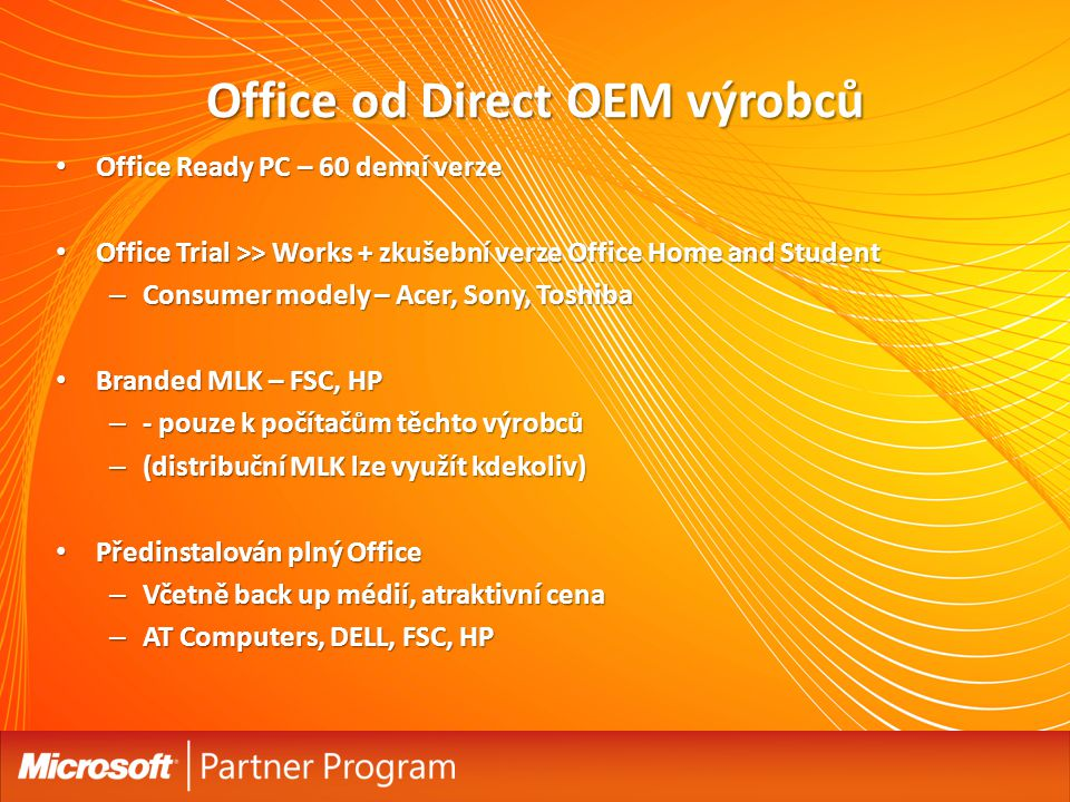 Office od Direct OEM výrobců