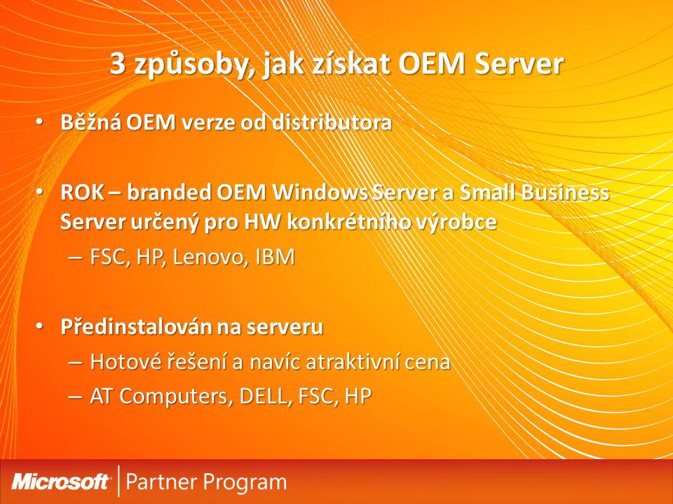 3 způsoby, jak získat OEM Server
