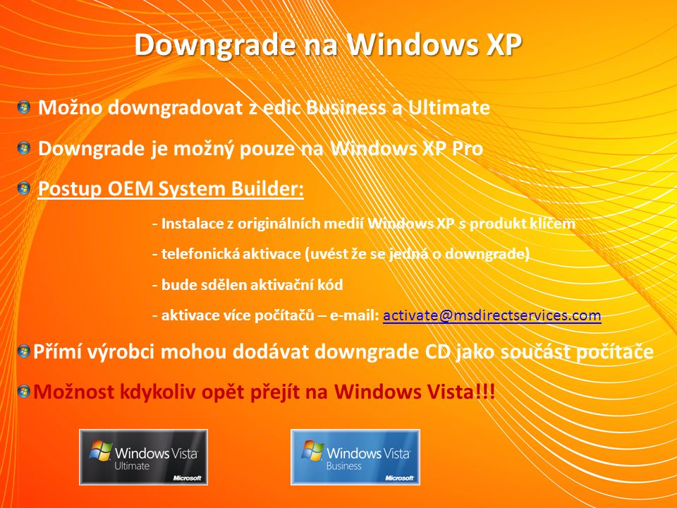 Downgrade na Windows XP