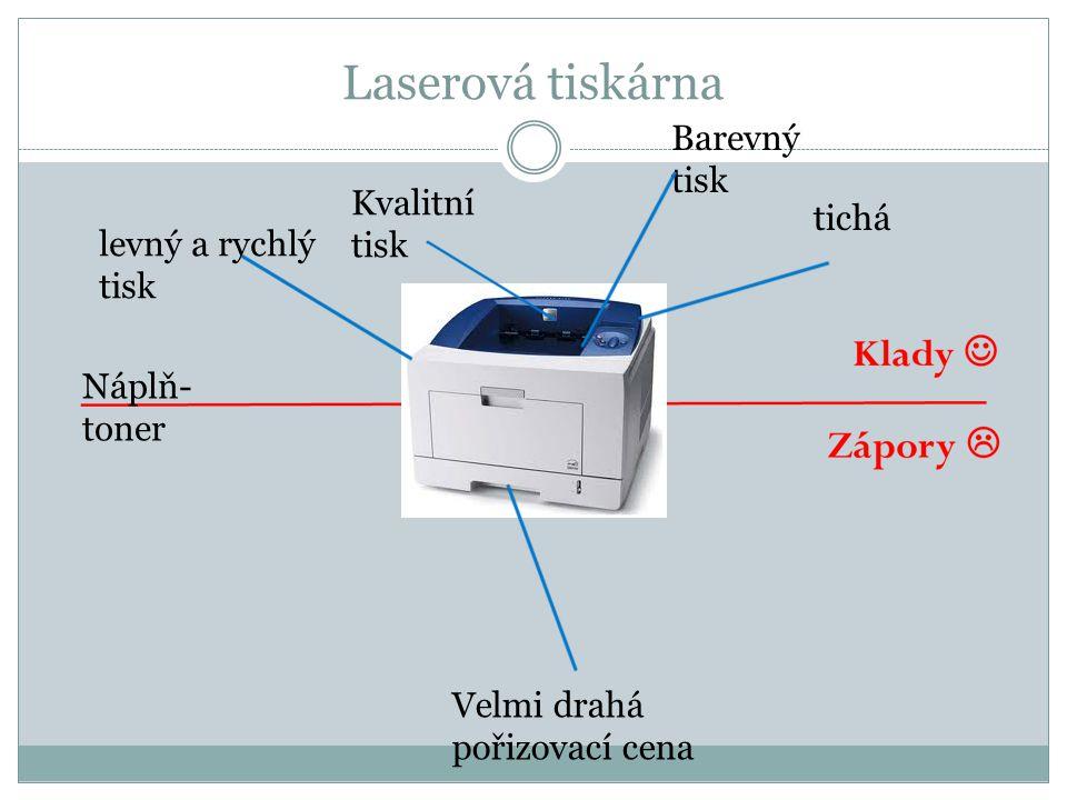 Laserová tiskárna Barevný tisk Kvalitní tisk tichá levný a rychlý tisk