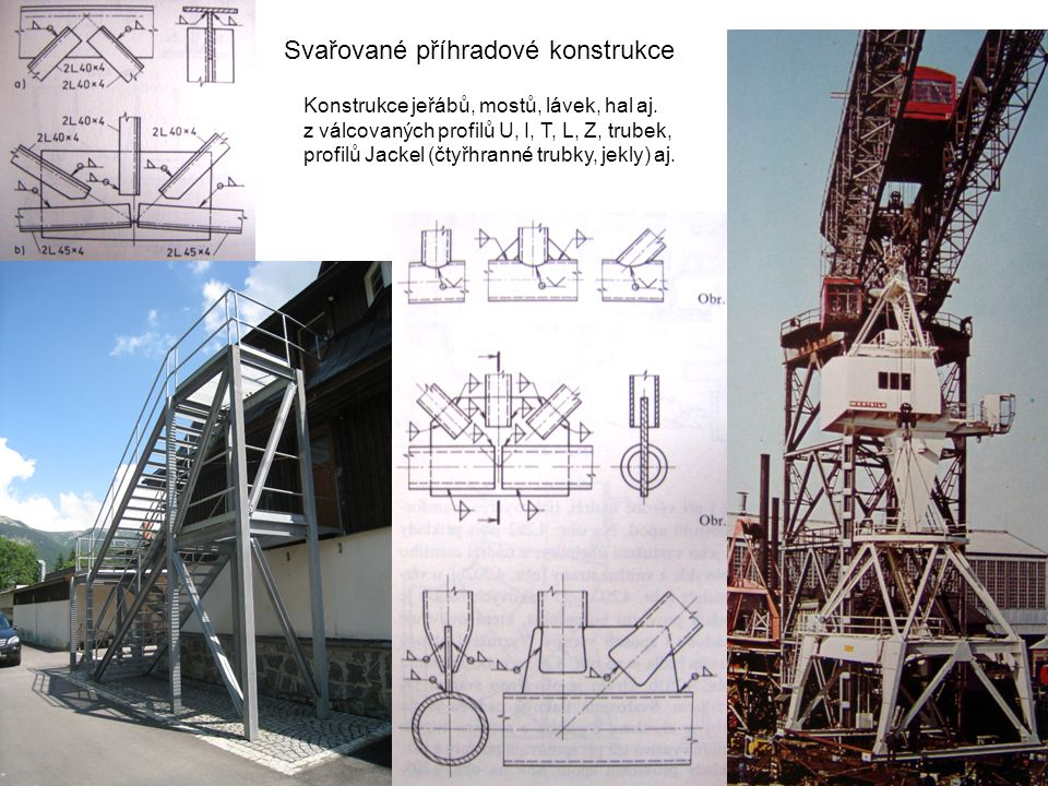 Svařované příhradové konstrukce