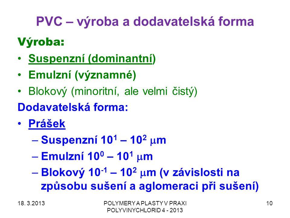 PVC – výroba a dodavatelská forma