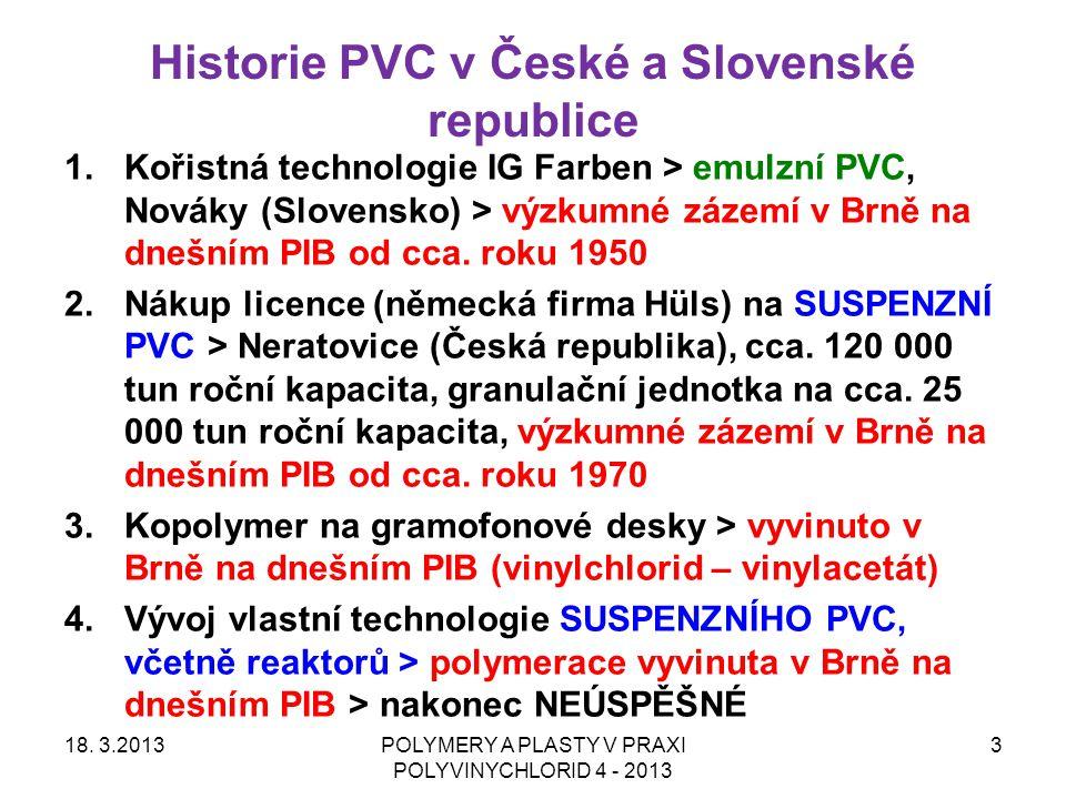 Historie PVC v České a Slovenské republice