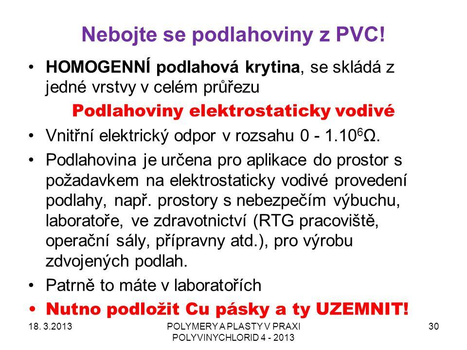 Nebojte se podlahoviny z PVC!