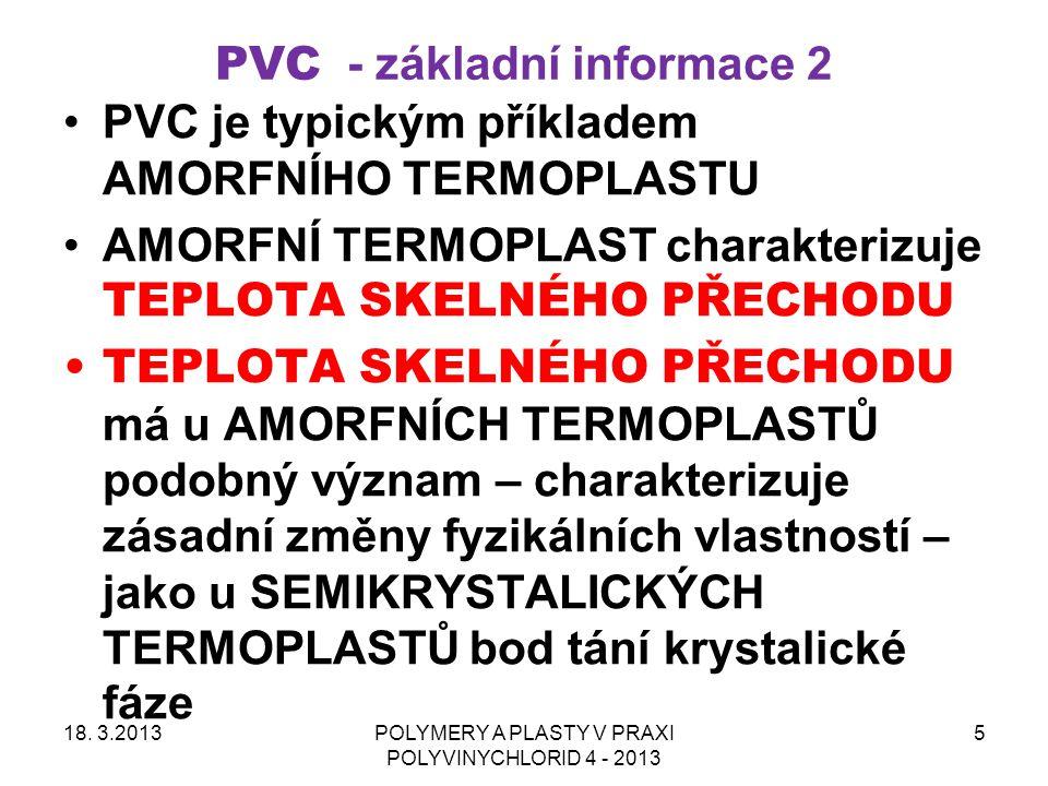 PVC - základní informace 2