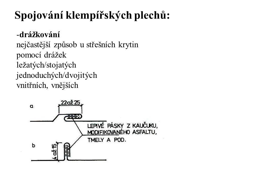 Spojování klempířských plechů: