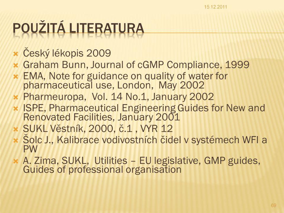 Použitá literatura Český lékopis 2009
