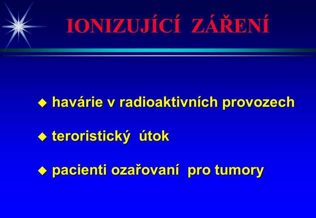 IONIZUJÍCÍ ZÁŘENÍ havárie v radioaktivních provozech teroristický útok