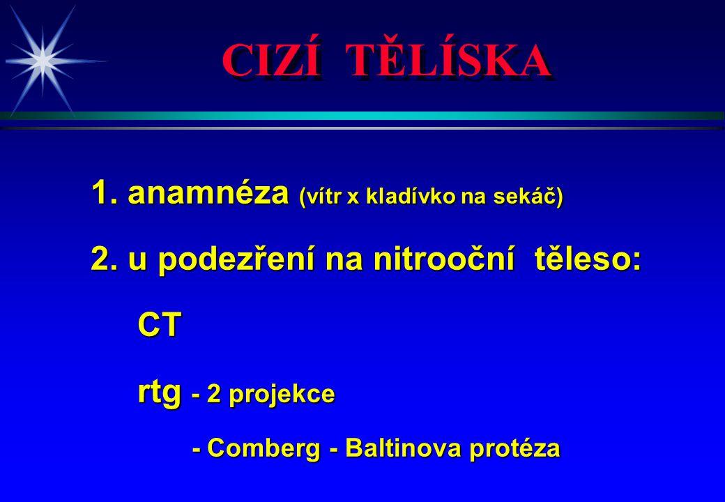 CIZÍ TĚLÍSKA 1. anamnéza (vítr x kladívko na sekáč)