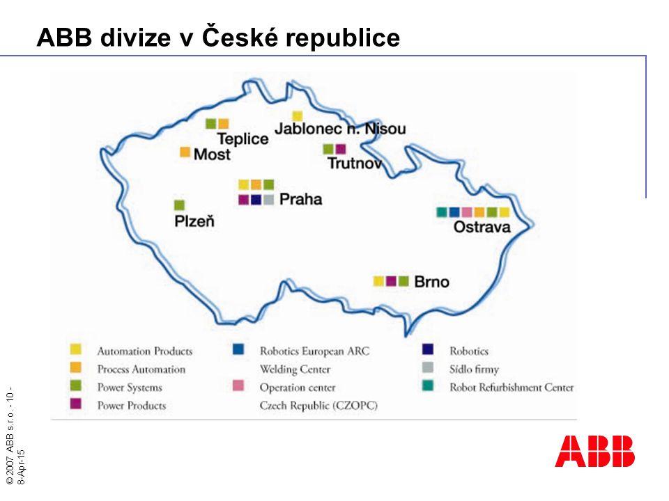 ABB divize v České republice